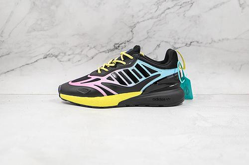 ZX 2K 2.0 黑粉黄蓝色 彩色 渐变色 Originals ZX 2K Boost 2.0 货号:GY8283 这款街头经典板鞋,采用科技风设计     K13