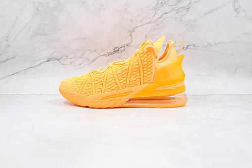 C70 灭世纯原 蜜瓜 橙黄色 詹姆斯18代 货号:DB7644-801 中国 詹姆斯总冠军战靴  NIKE LeBron 18   灭世纯原  M23-11