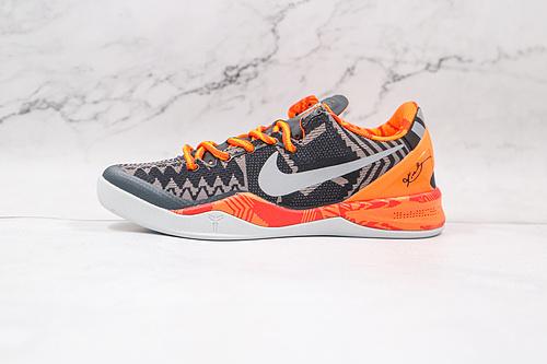 耐克 科比8代 黑人月 货号:583112 001 Nike Kobe 8 System  复刻实战运动低帮文化篮球鞋 结合速度、精读、洞察力以及专注力的概念   K25-5