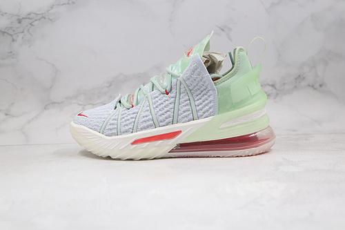 C40 |  Nike LeBron XVIII EP 勒布朗-詹姆斯篮球鞋/浅绿色 货号:DB7644-002 鸳鸯 半掌氮气缓震气垫 原标原盒 网面透气 实战无忧   K25-5
