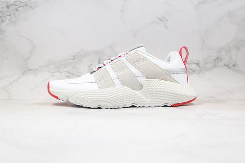 EQT 刺猬V2 二代 皮面 货号:FW4260 白红色 Adidas Originals Prophere V2 头层皮 全新改版鞋面材质     L16   K25-5