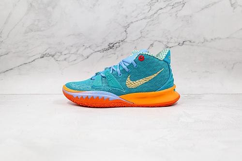 灭世纯原 Nike 欧文7 蓝橘联名 货号:CT1137 900 Kyrie 7  Ep   原盒原装级别 首发版本‼ 全鞋身原档案刺绣细节精准还原   M23-11