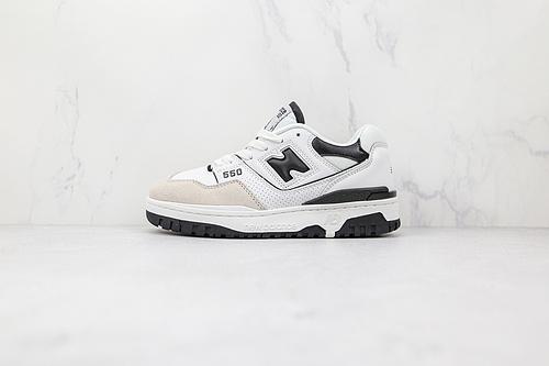 新百伦 NB550 白黑色 货号:BB550LM1 NB550系列 new balance 550系列复古休闲运动慢跑鞋板鞋  F3