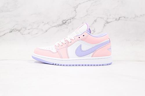 乔丹 AJ1 低帮 白粉紫 货号:CK3022 600 Nike Air Jordan 1 Low AJ1低帮原鞋购回重新打版开模 拒绝公底 购置公司同步原材料   Q17