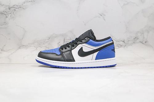 得物 毒版本 头层 乔丹 低帮 AJ1  皇家蓝 黑蓝色 Nike Air Jordan 1 Low