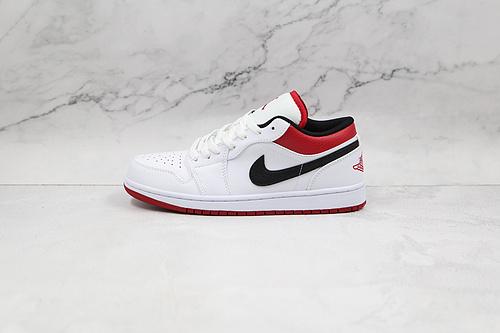 支持二次放店 Air Jordan 1 Low 白红色 货号:553558 118 AJ1乔1低帮休闲板鞋 同步官方配色 市场唯一独家头层皮打造 原鞋原档案开发  J21