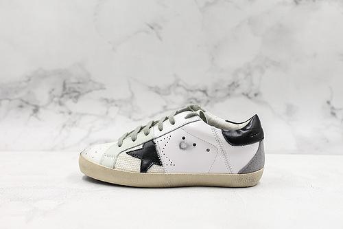 小脏鞋银补丁黑白GoIden Goose/GGDB 经典款小脏鞋 最高工艺原版开模 主打自由随性 有一种不修边幅的酷感 特意做旧运动板鞋 高端柔软皮革 纯手工制作鞋底  T21  K15