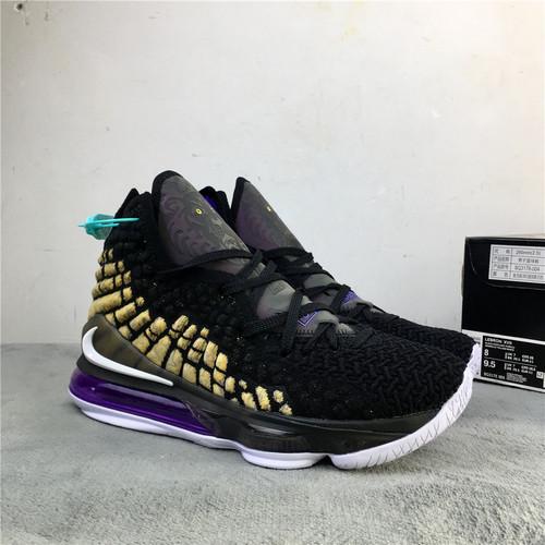 詹姆斯 17代 黑紫湖人篮球鞋 36-46 Nike LEBRON XVII EP 货号:BQ3178-004