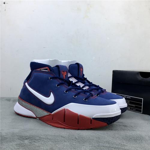 """科比 美国队 兰红白 原装真碳 40-47.5 Nike Kobe 1 Protro """"USA""""货号:AQ2728-400"""