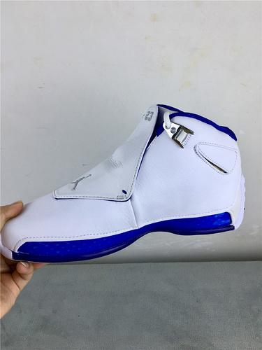 """乔18  白蓝 头层 原装版 41-46 Air Jordan 18 """"Sport Royal""""货号:AA2494-106"""