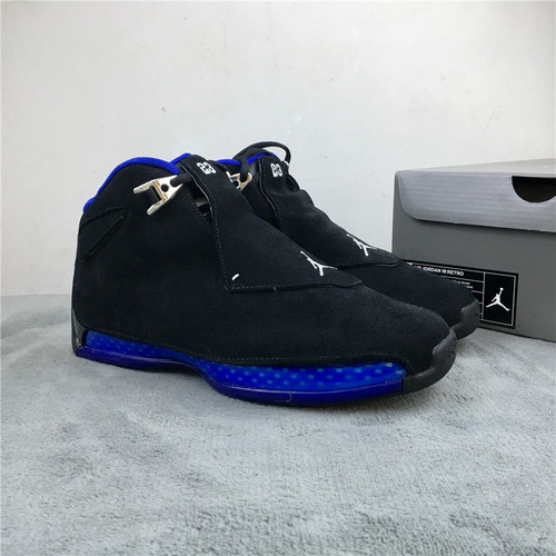 """乔18 黑蓝 原装版 40-47.5 Air Jordan 18 """"Sport Royal""""货号:AA2494-007"""