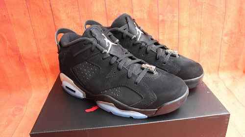 "140 乔6黑银低帮终极版36-47.5 Air Jordan 6 Low ""Black/Chrome"""