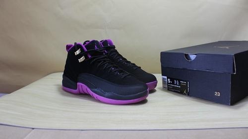 "AJ12 紫罗兰 黑紫 真标 36-40Air Jordan 12 GS ""Hyper Violet""510815-018"