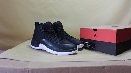 """乔12 黑色尼龙 黑白 真标 41-47 Air Jordan 12 """"Black Nylon""""130690-004"""