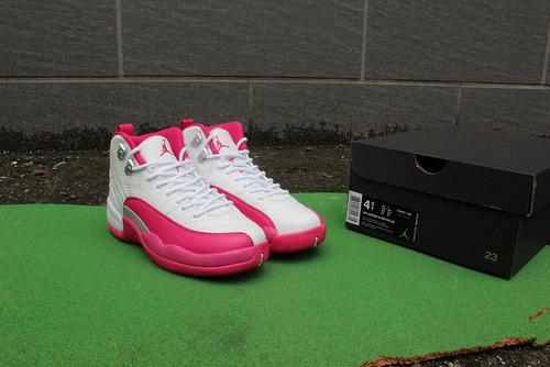 """12白粉终极版36-40  Air Jordan 12 GS """"Dynamic Pink"""""""