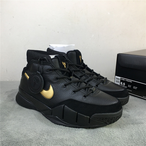 """科比 黑金 原装真碳 40-47.5 Nike Kobe 1 Protro """"Mamba Day"""" 货号:AQ2728-002"""