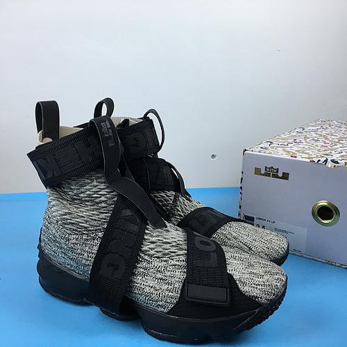 詹姆斯 机能绷带灰黑 40.5-46 KITH x Nike LeBron Lifestyle 15 XV AO1068-100