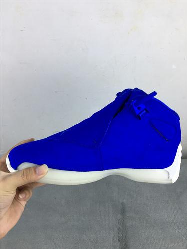 """乔18 全蓝 原装版 40-47.5 Air Jordan 18 """"Blue Suede""""货号:AA2494-401"""