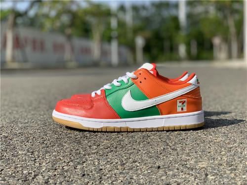 Nike SB Dunk Low 711 红绿橙 便利店 货号:CZ5130-600_aj1东莞的好还是莆田的好