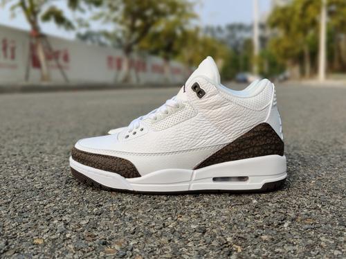 """Air Jordan 3 """"Mocha 摩卡配色,  40---47.5_莆田鞋真正的工厂微信"""