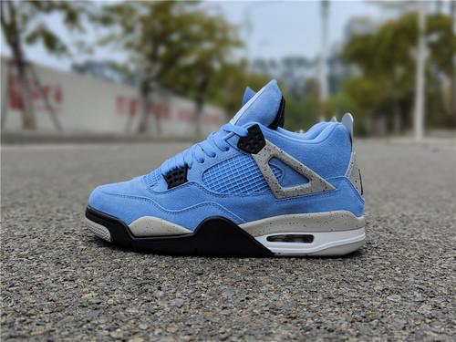 """乔丹4代 大学蓝 Air Jordan 4 """"University Blue""""  货号:CT8527-400_aj1东莞的好还是莆田的好"""