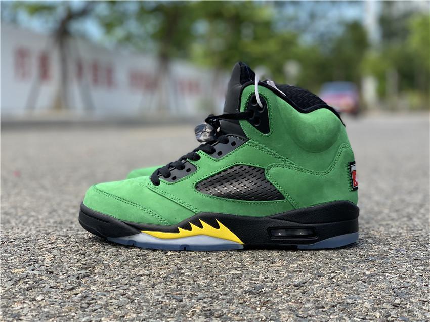 Air Jordan 5'Oregon Ducks'  货号:CK6631-307_莆田的鞋子在哪里买软件