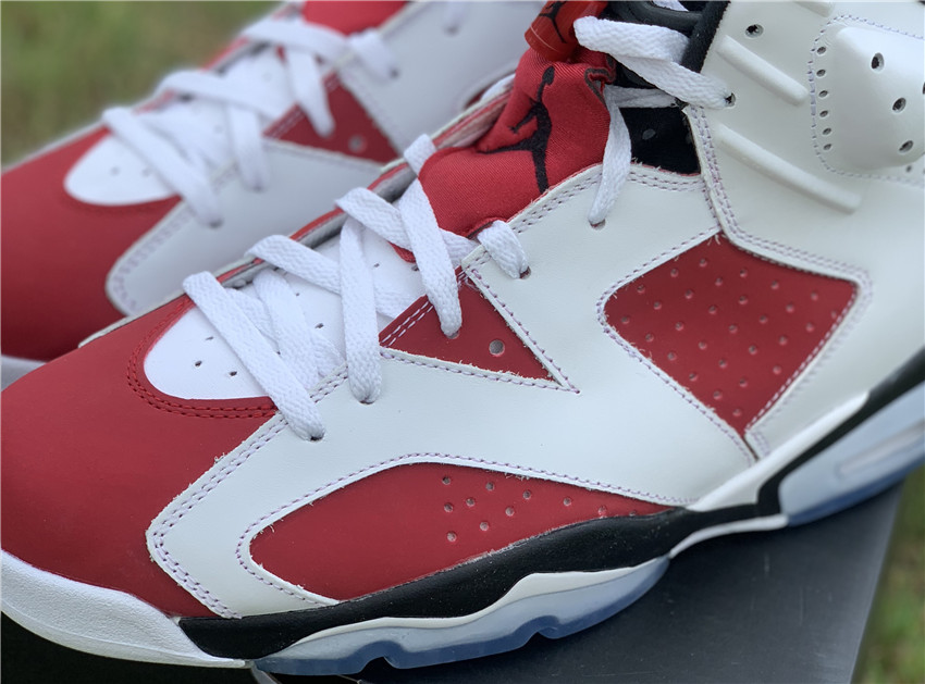 """胭脂红 Air Jordan 6 """"Carmine"""" 384664-160_aj11东莞和莆田哪个好"""