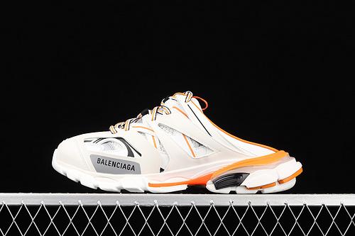 Balenciaga Sneaker Tess s.Gomma MAILLE WHITE/ORANGE 2021ss 巴黎世家3.0 三代户外概念鞋 半拖 W3CP59059