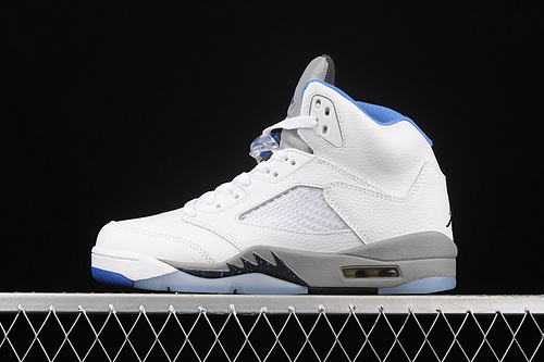 "G版 Air Jordan 5""Stealth 2.0""AJ5 乔5白蓝配色 440888-140"