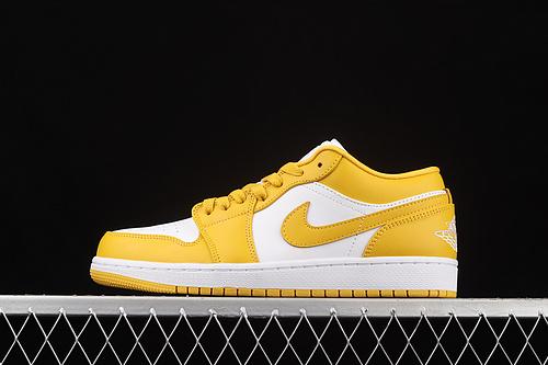 Air Jordan 1 Low AJ1 乔1白黄 低帮文化休闲运动板鞋 553558-171