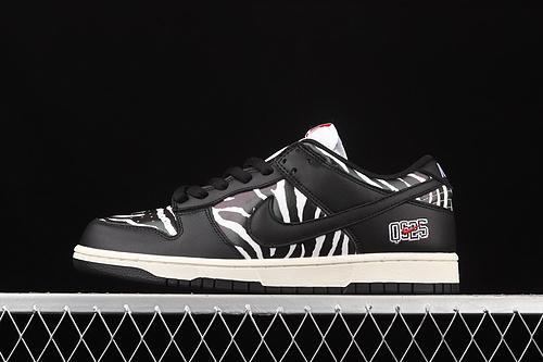 Quartersnacks x Nk SB Dunk Zebra黑白斑马纹 联名款低帮运动休闲板鞋 DM3510-001