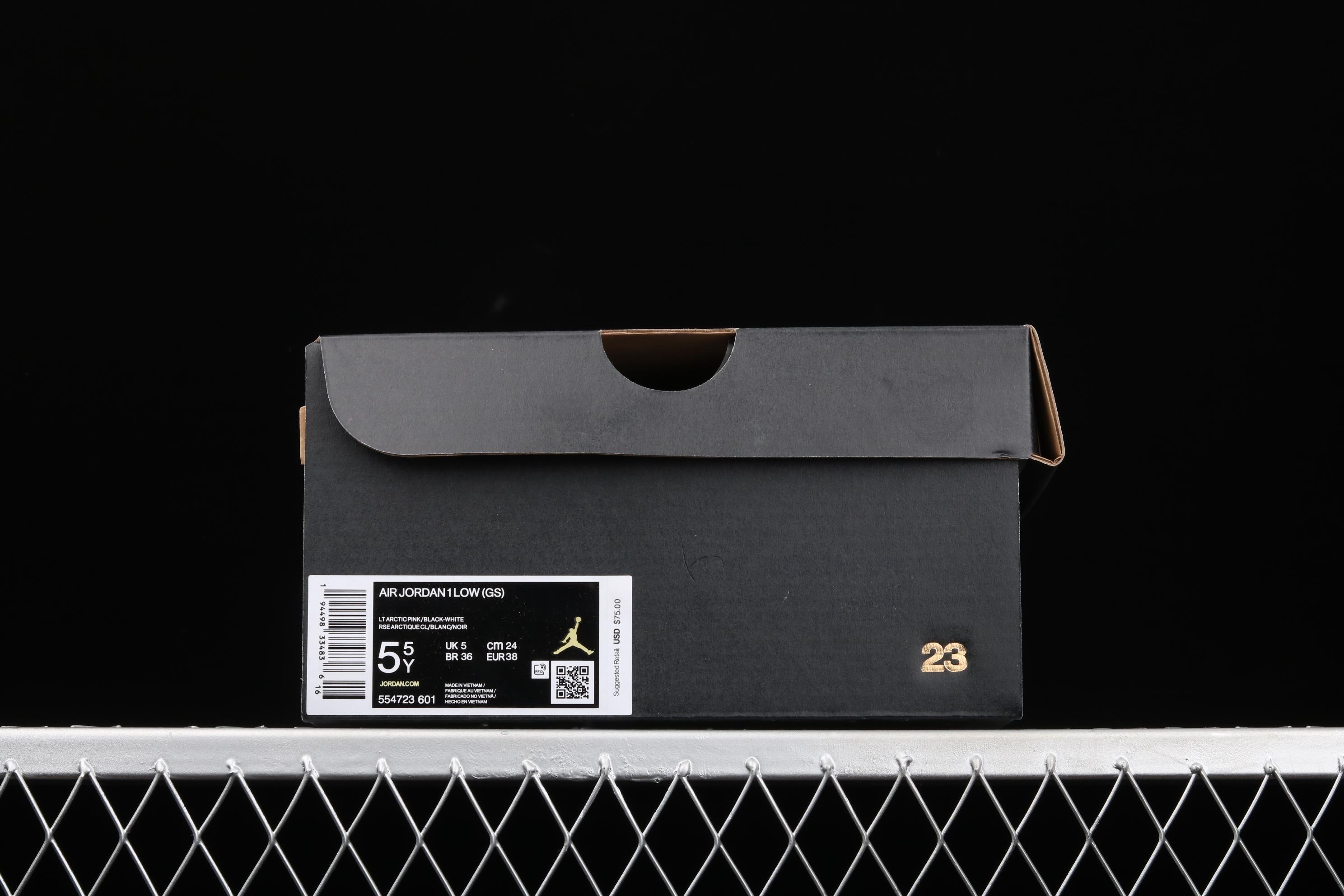 G版纯原 Air Jordan 1 Low AJ1 乔1低帮黑粉 554723-601