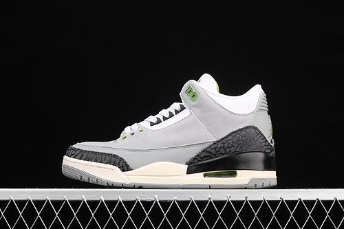 "#ZG版本 Air Jordan 3 Retro""Chlorophyll""AJ3 乔3叶绿素 灰绿手稿 136064-006"