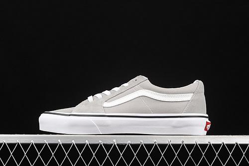 Vans SK8-Low 范斯 灰色侧边条纹低帮职业滑板鞋 VN0A4UUKIYP
