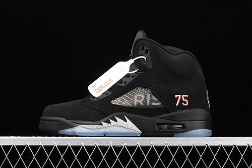 """J版 Air Jordan 5 OG""""Black Metallic""""AJ5 乔5黑银 AV9175-001"""