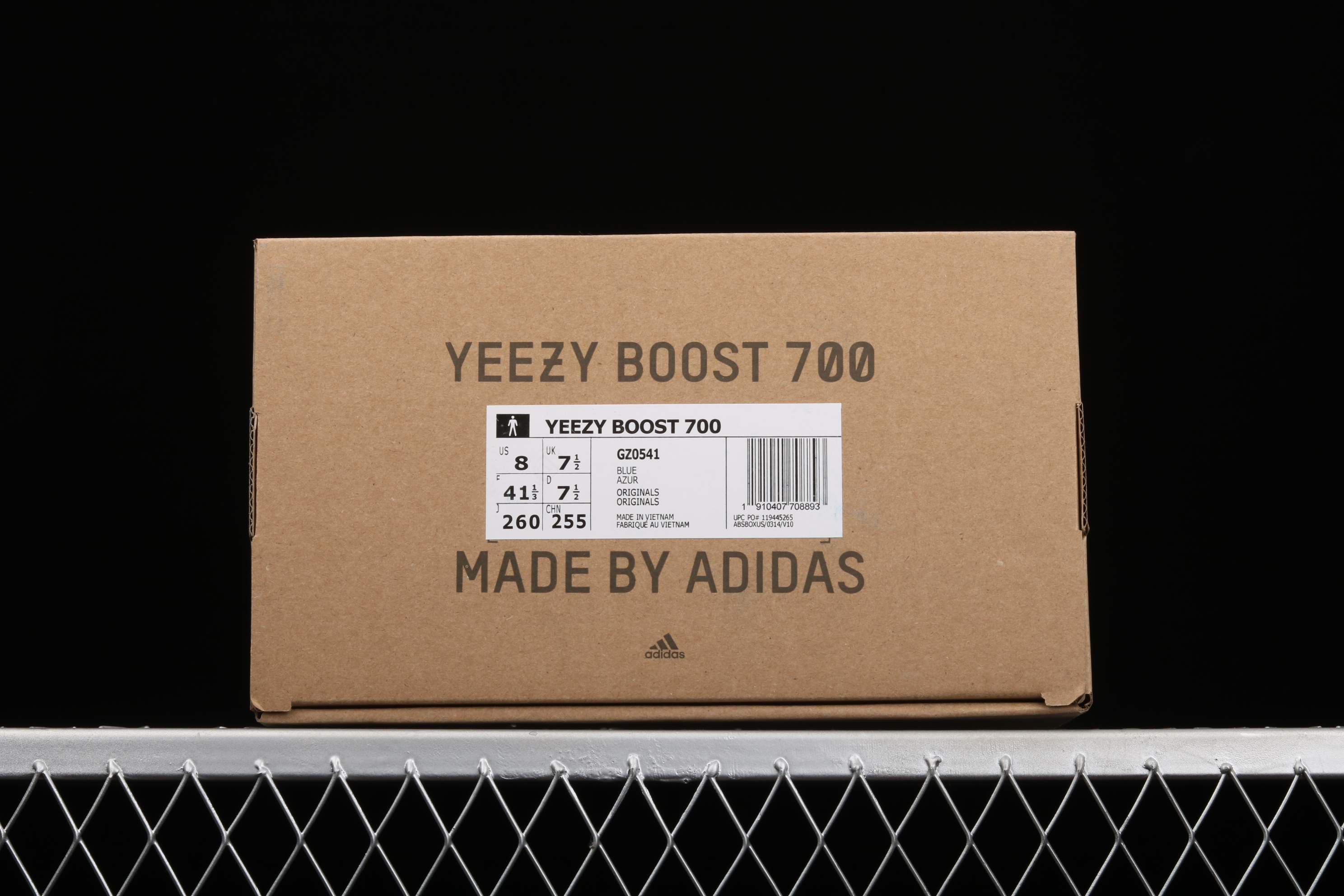 性价版本 Ad Yeezy Boost 700 GZ0541 侃爷椰子700 3M反光蓝桔色跑鞋