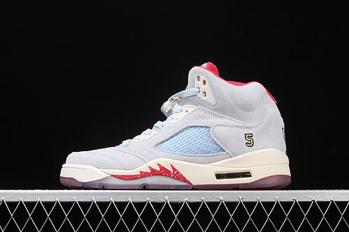 纯原版本 Air Jordan 5 Trophy Room SP AJ5 乔5冰蓝 篮球鞋 CL1899-400