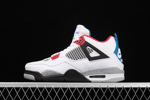 款 Air Jordan 4 What The AJ4 乔4头层鸳鸯 白水泥 CI1184-146