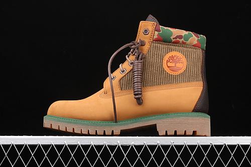 Timberland Palace 天伯伦/添柏岚 超强潮流周年联名款 复古拼迷彩大黄靴 TBOA1UBW231