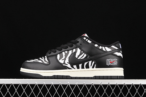 C版 Quartersnacks x Nk SB Dunk Zebra黑白斑马纹 联名款低帮运动休闲板鞋 DM3510-001