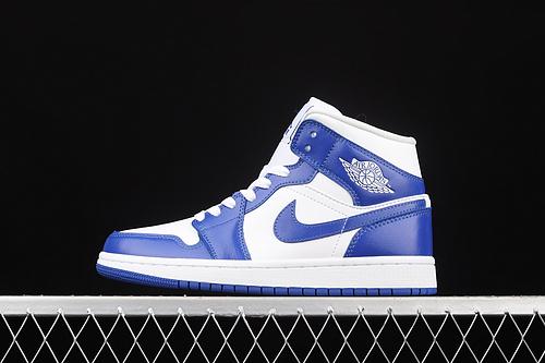 G版纯原 Air Jordan 1 Mid AJ1 乔1肯德基蓝  中邦篮球鞋 BQ6472-104