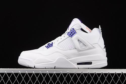 """J版 Air Jordan 4 """"Court Purple""""AJ4 乔4白紫 CT8527-115"""