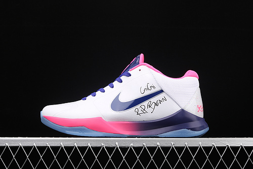 Nk Zoom Kobe 5 Protro 科比5 白粉紫色 签名款 CD4991-600