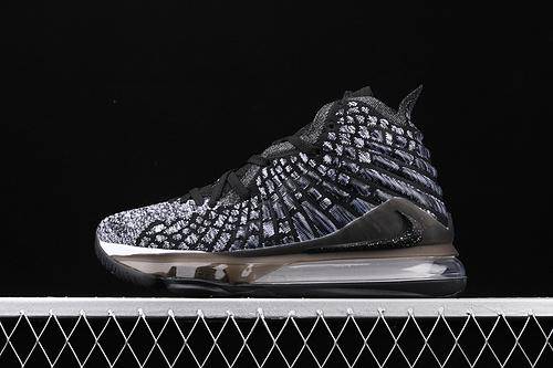 Nk LeBron 17 Black/White勒布朗·詹姆斯17代签名战靴室内实战高帮运动飞织篮球鞋 BQ3177-002
