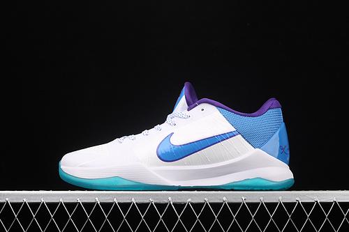 "Nk Zoom Kobe V Protro""白蓝""科比5 2020复刻低帮运动篮球鞋 CD4491-101"