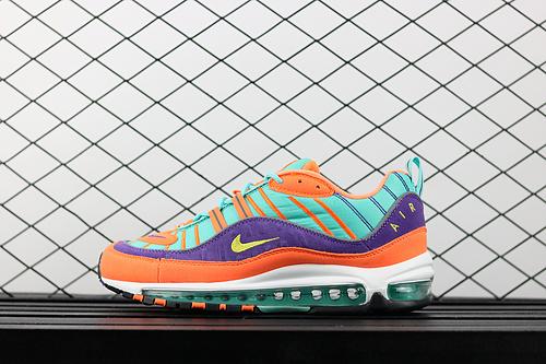 ¥130 Nike Air Max98 OG 多彩龙珠全掌气垫跑鞋跑步鞋 924462-800