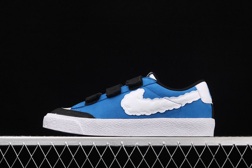 "Kevin Bradley x Nike SB Blazer Low""Heaven""联名款魔术贴麂皮拼接休闲板鞋 CT4594-400"