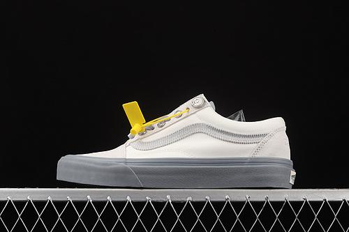 C2H4 x Vans RelicStone白蓝色侧边条纹低帮休闲板鞋 VN0A7Q2J628