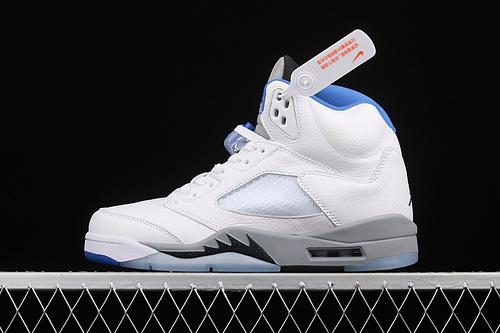 "Air Jordan 5""Stealth 2.0""AJ5 乔5白蓝配色 DD0587-140"