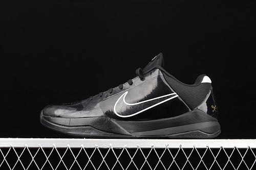 纯原版本 Nk Zoom Kobe 5 Blackout 科比5 黑武士 低帮运动篮球鞋 386429-003